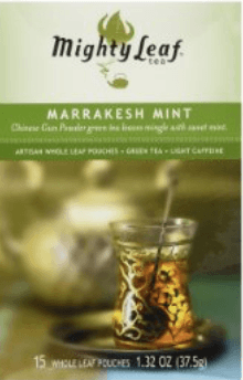 Mighty Leaf Tea company's marrakesh mint.