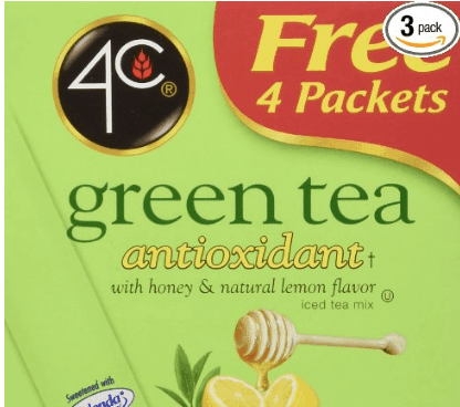 A box of green tea bags by 4C.