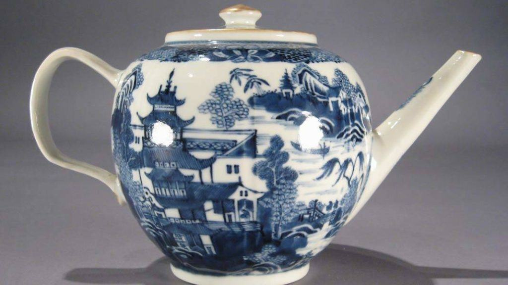 Here's an antique Chinese porcelain tea pot, source unknown.